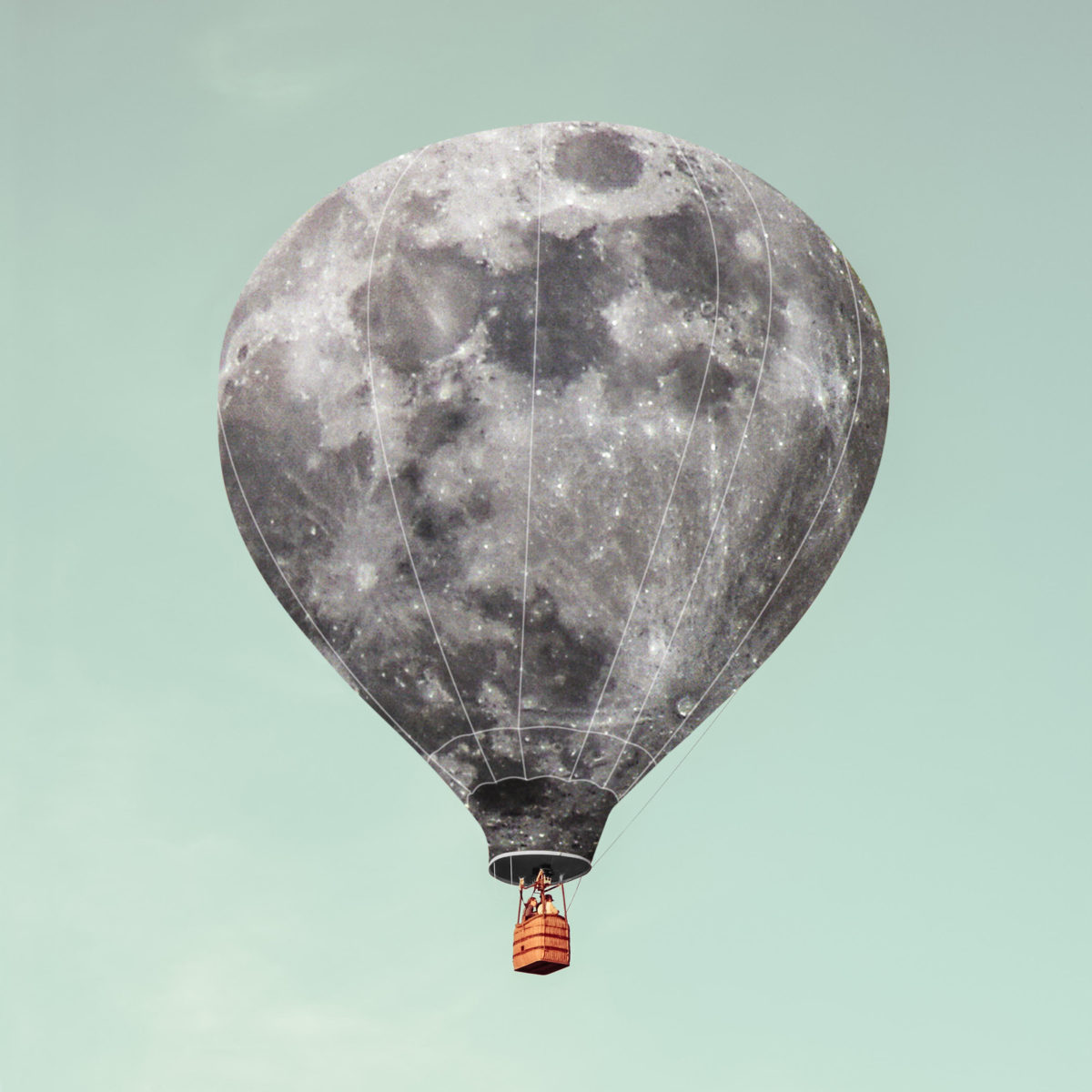 Montgolfiere Lune Armstrong