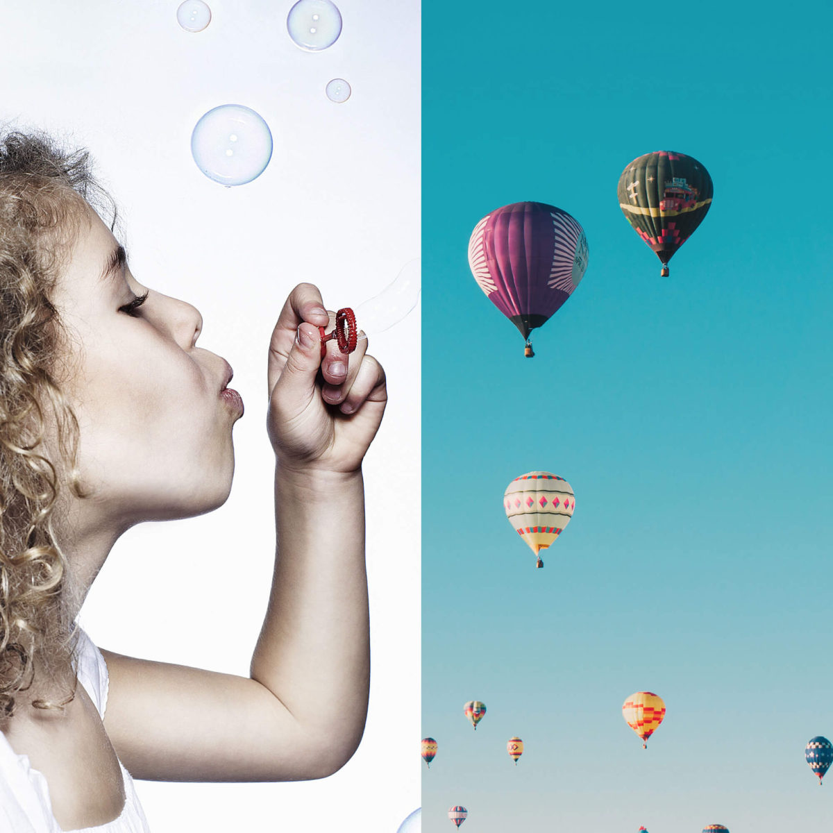 Hors paires - bulles et montgolfières