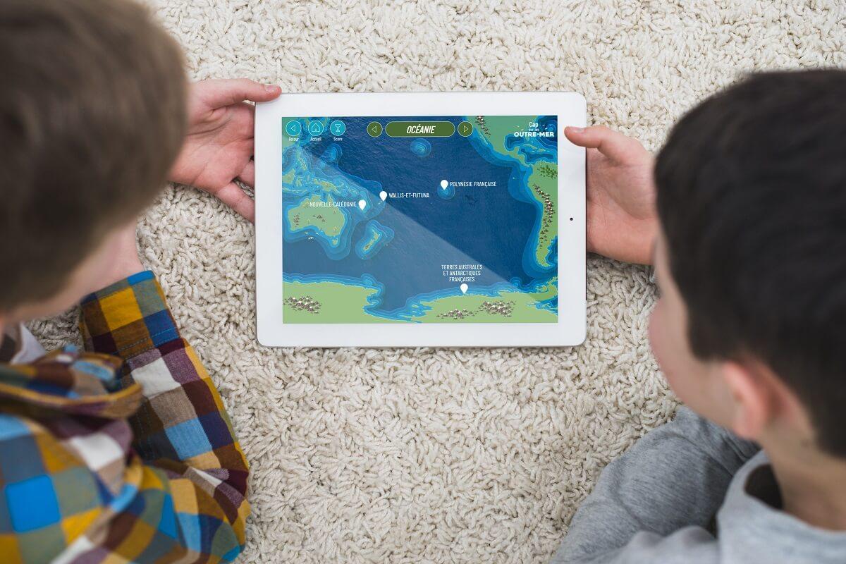 Jeu tablette Cap sur les Outre-mer